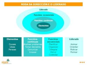 A roda da dirección e do liderado